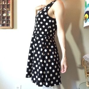 Divided Dresses - Ready for Disneyland in this Polka-Dot Mini Dress